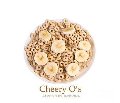 Photograph - Bowl Of Toasted Oats Cereal by James BO Insogna