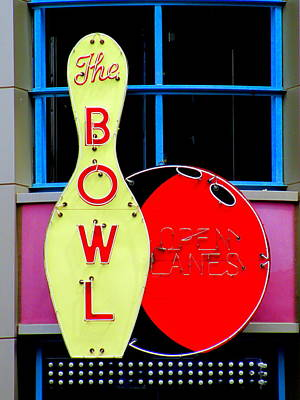 Bowling Alley Photograph - Bowl by Randall Weidner