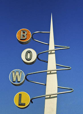 Retro Photograph - Bowl Sign by Matthew Bamberg