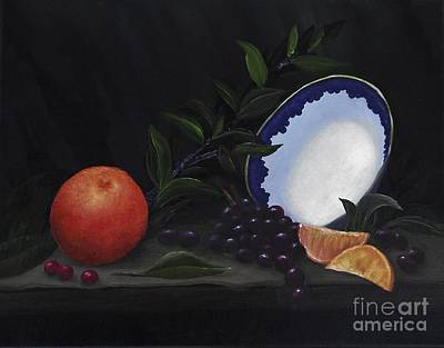 Painting - Bowl With Grapes And Oranges by Michelle Welles
