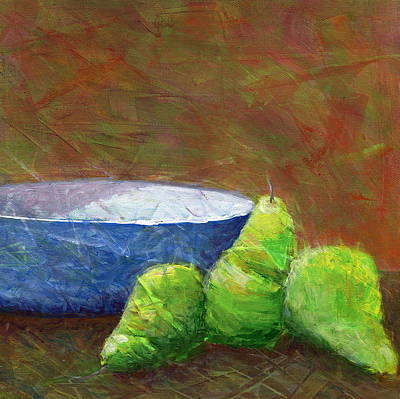 Painting - Bowl With Pears by Karyn Robinson