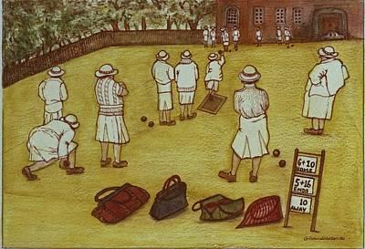 Bowling, 1988 Watercolour On Paper Print by Gillian Lawson