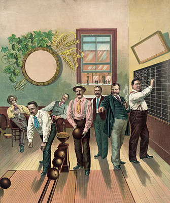 Bowling Alley Painting - Bowling Alley, 1893 by Granger