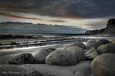 Bowling Ball Beach Art Print by Ron Schwager