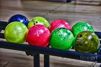 Bowling Alley Photograph - Bowling Balls by Paul Ward