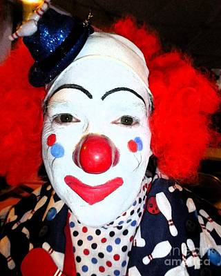 Photograph - Bowling Clown Backstage by Barbie Corbett-Newmin