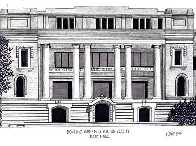 Drawing - Bowling Green State University by Frederic Kohli