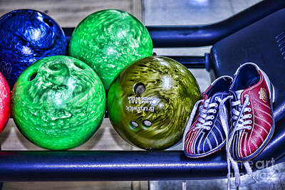 Bowling Alley Photograph - Bowling Shoes by Paul Ward