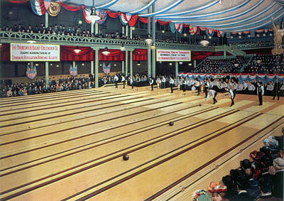 Bowling Alley Painting - Bowling Tournament, 1905 by Granger