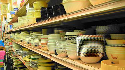 Photograph - Bowls by Strangefire Art       Scylla Liscombe