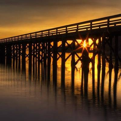 Beach Photograph - Bowman Bay Pier  #sunset by Mark Kiver