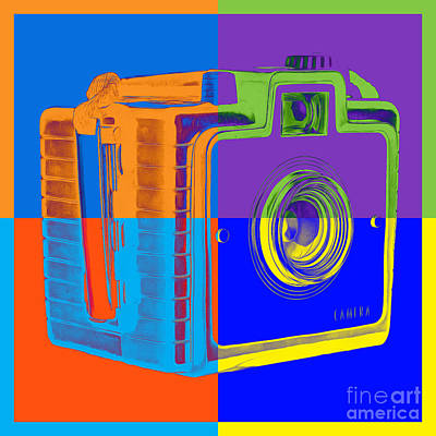 Royalty-Free and Rights-Managed Images - Box Camera Pop Art 1 by Edward Fielding