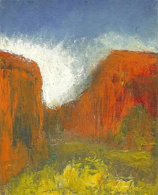 Canyons Painting - Box Canyon by Joe Leahy