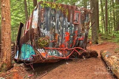 Photograph - Box Car Graffiti by Adam Jewell