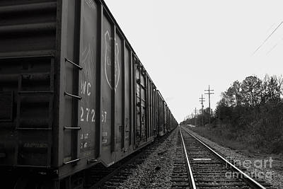 Box Cars And Tracks Art Print by Russell Christie
