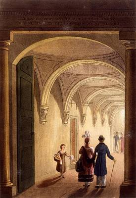 Theatre Drawing - Box Entrance To The English Opera by Daniel Havell