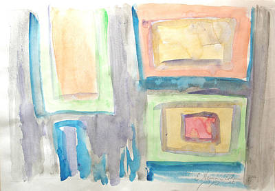Art Print featuring the painting Box In Box by Esther Newman-Cohen