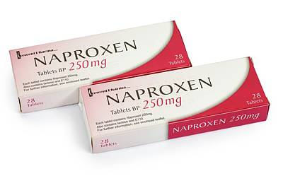 Reliefs Photograph - Box Of 250mg Tablets Of Naproxen by Geoff Kidd