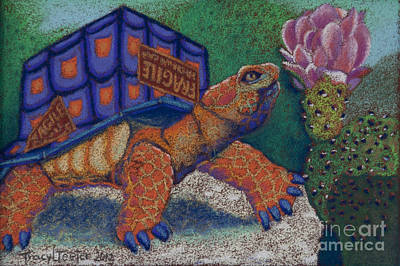 Box Turtle Art Print by Tracy L Teeter