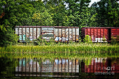 Boxcar Reflection Art Print