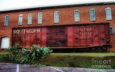 Boxcar Art Print by Skip Willits