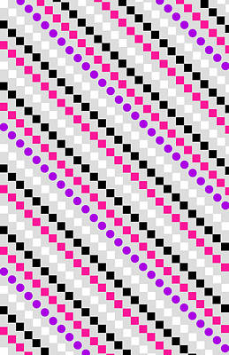 Repeating Digital Art - Boxed Stripe by Louisa Hereford