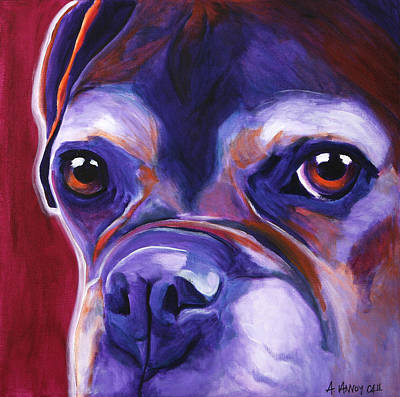 Boxer Painting - Boxer - Wallace by Alicia VanNoy Call
