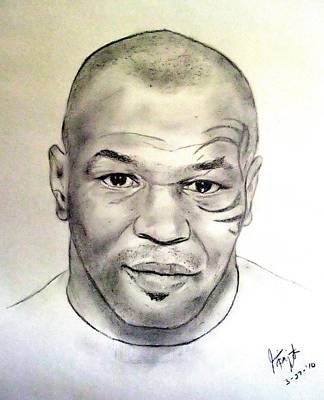 Drawing - Boxer And Actor Mike Tyson by Jim Fitzpatrick