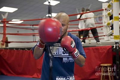 Boxer At Olympic Training Facility Art Print