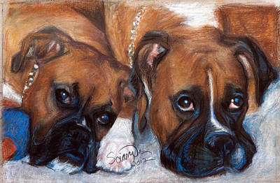 Boxer Buddies Art Print by Sciandra