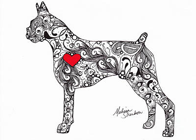 Drawing - Boxer by Melissa Sherbon