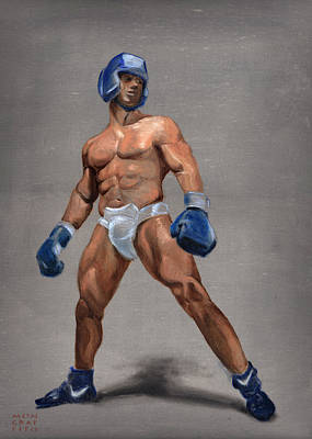 Painting - Boxer by Mon Graffito