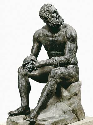 Boxer Seatted. 1st C. Hellenistic Art Art Print by Everett