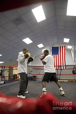 Boxers At Olympic Education Center Art Print