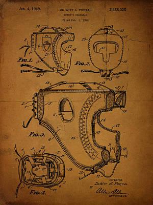 Boxer's Headgear Patent 1949 De Witt A Portal Art Print