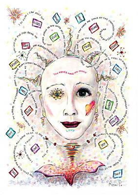 Boxes In My Head Love N Stuff Art Print by Veronika Pock