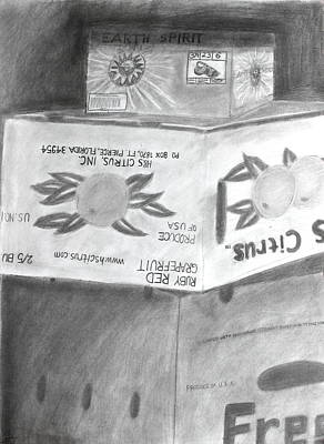 Crate Drawing - Boxes Of Sunshine by Caitlin Fielding