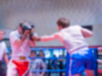 Boxing Blur Background Art Print by Nikita Buida