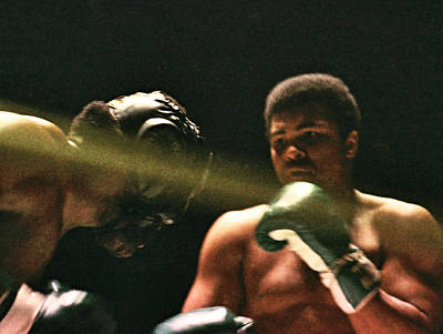 Photograph - Boxing - Cassius Clay - In Shadow by Robert  Rodvik