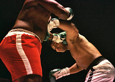 Photograph - Boxing - Cassius Clay Takes A Shot by Robert  Rodvik