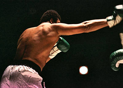 Photograph - Boxing - Cassius Clay Throws A Shot by Robert  Rodvik