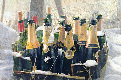 Snow Mixed Media - Boxing Day Empties by Lincoln Seligman