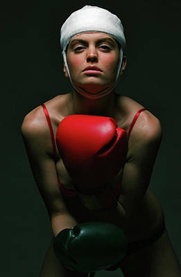 Photograph - boxing Girl 2 by Evgeniy Lankin