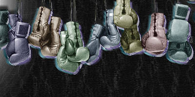 Action Sports Art Painting - Boxing Gloves by Tony Rubino