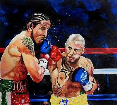 Painting - Boxing by Raymond Perez
