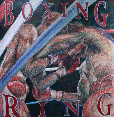 Boxing Ring Art Print by Kate Fortin