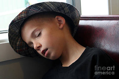Photograph - Boy Asleep In Booth by Susan Stevenson