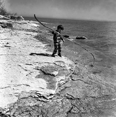 Photograph - Boy At Shore by Henri Bersoux