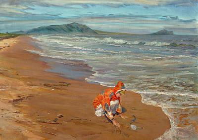 Boy At The Seashore Art Print