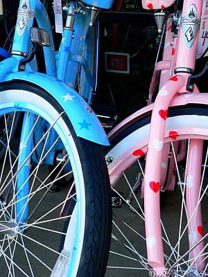Photograph - Boy Bike Girl Bike by Jeff Lowe